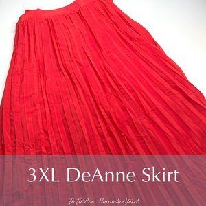 Lularoe Red Deanne wrap Skirt